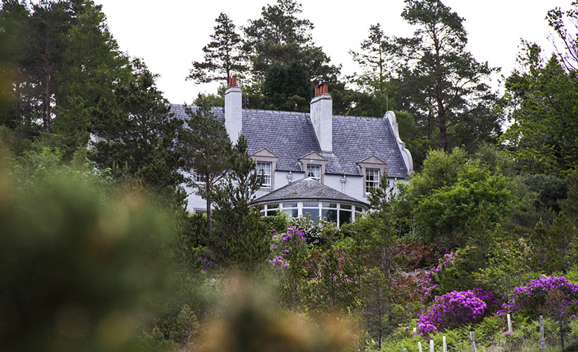 Duirinish Lodge Plockton building hill view